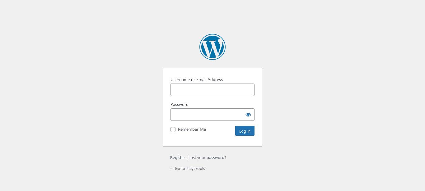 Wordpress_Login_Page